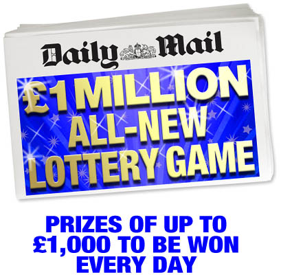 £1 Million Daily Mail All-New Lottery Game.